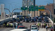 At least 41 people were arrested Wednesday in a rush hour protest that briefly shut down Interstate 35 in Minneapolis, Minnesota State Police said. Rush Hour, State Police, Minneapolis, How To Know, Minnesota, Surfing, Street View, Travel, Black