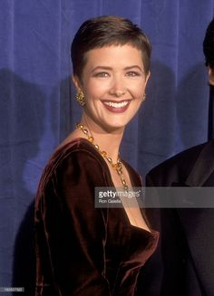 Actress Janine Turner attends the 43rd Annual Primetime Emmy Awards on August 25, 1991 at Pasadena Civic Auditorium in Pasadena, California.
