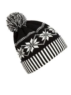 ee3012f74f2 Christmas Snowflakes Thick Knitted Hat Christmas Beanie