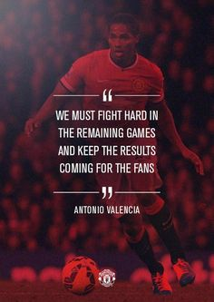 """""""Antonio Valencia has a message ahead of this weekend's game against Leicester. Soccer Quotes, Leicester, Manchester United, Valencia, The Unit, Messages, Twitter, Sports, Movie Posters"""