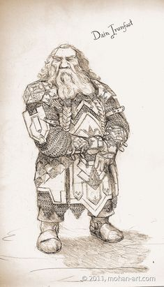 Dain by ~TurnerMohan on deviantART Dain Ironfoot, Lord of the Iron Hills, later King Under the Mountain.