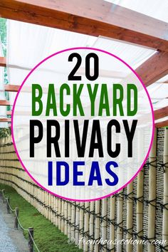 These outdoor privacy ideas create a privacy screen for your backyard garden that will keep the neighbors from looking in. Include them in the garden design for your landscaping to create a yard you'll want to spend time in. Lattice Privacy Fence, Privacy Trellis, Outdoor Privacy, Backyard Privacy, Privacy Fences, Backyard Landscaping, Landscaping Ideas, Fencing, Deck Privacy Screens