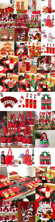 Christmas Gift Ideas: Santa Pants Christmas Candy Bags Wine Stocking Bottle Gift Bag Xmas Decoration -> BUY IT NOW ONLY: $1.8 on eBay!