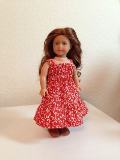 Mini American Girl dress for Girl of the Year Saige Copeland , 6 1/2 inch dolls
