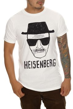 Have you seen this man? Yeah, you'll want Heisenberg on your side. Just ask any Breaking Bad fan. This T-shirt is 99.1% pure awesome.
