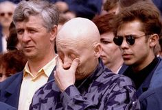 A worker of the Chernobyl nuclear power plant gives way to emotion during commemorations at the station marking the anniversary of the explosion in the station's fourth reactor in Chernobyl April 1996 (Reuters) Nagasaki, Hiroshima, Fukushima, Vietnam, Chernobyl Nuclear Power Plant, Korea, Nuclear Disasters, April 26, 10 Anniversary