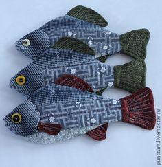 """Рыбки """"Карасики"""" Деревенский стиль. - лоскутное шитье,рыба,рыбаку,оформление интерьера"""