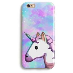 Unicorn emoji space rainbow iPhone case Cute iPhone case 1P004B ($13) ❤ liked on Polyvore featuring accessories and tech accessories