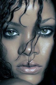 Rihanna wet hair and beauty