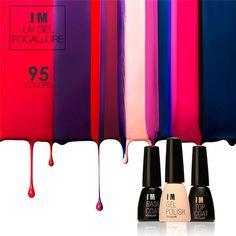 Focallure nuovo nail polish soak off gel del chiodo di bling di lunga durata Lampada UV LED Cosmetico Strumenti di Arte Manicure Nail Polish Gel Color