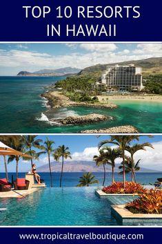 Top 10 Resorts in Hawaii Hawaii Honeymoon All Inclusive, Big Island Hawaii Hotels, Best Hawaii Resorts, Best Island In Hawaii, Best Tropical Vacations, Best Family Resorts, Best Vacation Destinations, Hawaii Vacation, Dream Vacations