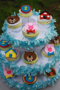 Items similar to Three Little Pigs Fondant Cupcake Toppers- storybook party, fairy tale party, storybook shower, nursery rhyme party on Etsy Storybook Party, Fairytale Party, Pig Birthday, 4th Birthday Parties, Nursery Rhyme Party, Fondant Cupcake Toppers, Pig Party, Three Little Pigs, Brownies