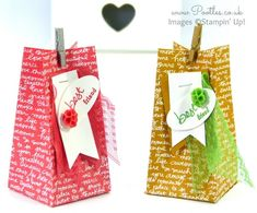 Stampin 'Up Démonstrateur Pootles - script Tutorial Place Sac utilisant Stampin' Up!  DSP