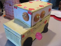 Shoe Box Decorating Ideas Fire Truck Valentine's Box And Treat For My Little Firefighter Guy