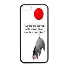 Cute Eeyore Donkey Quotes Case for iPhone 4S 5 5S 5C 6 6S Touch Plus Samsung Galaxy S3 S4 S5 Mini S6 Edge A3 A5 A7 Note 2 3 4 5 #clothing,#shoes,#jewelry,#women,#men,#hats,#watches,#belts,#fashion,#style
