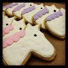 Girly Horse or Unicorn Sugar Cookies
