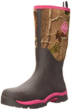 Cute Hunting Boots!  Women's Muck Boots camo pink 4mm CR Flex-foam PK meshing lining EVA midsole