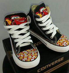 d975da3f784a Boys Custom Converse- Lightning Mcqueen Converse- Kids Converse- Boys Custom  Sneakers- Batman- Superman- Emoji- Mickey Mouse- Paw Patrol