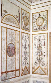 Pietro Moro e Giuseppe Borsato. Decorazioni parietali nella sala delle Belle Arti, Museo Correr, Venice, Italy