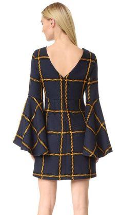 JOUR/NE Long Sleeve Tartan Dress