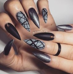 Love the matte teamed with geometric print