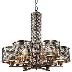 Lit-Mesh Test Chandelier by Varaluz - From the Home Decor Discovery Community at www.DecoandBloom.com
