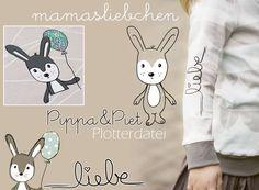 Plotterdatei Plotter-Datei Hase Pippa & Piet von mamasliebchen (digital): Plotterdatei Plotter-Datei Hase Pippa & Piet von mamasliebchen (digital) Nicht nur ...