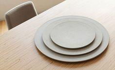Tenue (6mm thick) concrete plates   Designer: LaSelva design studio