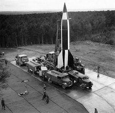 La Segunda Guerra Mundial Foto capturada alemán V2 Rocket De Octubre De 1945 Ww2…