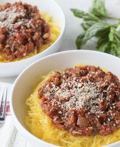 "Spaghetti Squash ""Bolognese"""