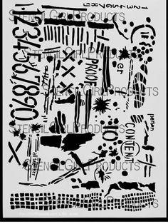 StencilGirl Products Stencils 9x12 Artist Designer - Seth Apter
