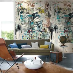 Casamance panoramic wallpaper Realites Collectives multi
