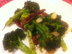 Roasted Broccoli with Sun-dried Tomatoes and Almonds