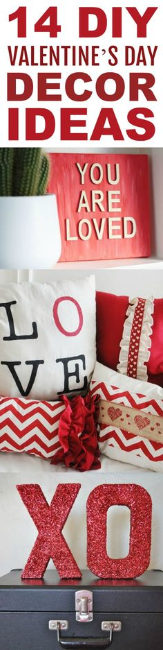 There are so many cute and fun ideas for the LOVEly holiday! Today  I am sharing 14 DIY Valentine's Day Decor Ideas! Which do you like best? #valentines #valentinesday #valentinesdaycrafts #valentinesdayprojects  #valentinesdaygiftideas #valentinesdaygifts #valentinesdaydiy #diyvalentinesday  #diyvalentinescrafts #diyvalentinesdecor #diyvalentinesdaydecor