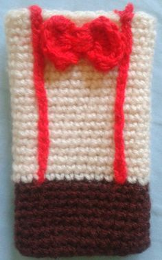 Doctor Who crochet.cellphone.case.11thdoctor