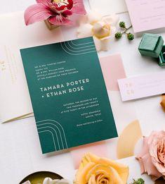 Invitation Wording, Invitation Suite, Invitation Design, Invitation Ideas, Invites, Modern Wedding Invitations, Wedding Stationery, Mod Wedding, Green Wedding