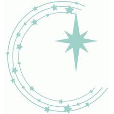 Silhouette Design Store - View Design #71041: christmas star circle flourish