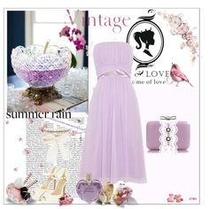"""Vintage love"" by bogyoemo on Polyvore Love Time, Summer Rain, Vintage Love, Bows, Table Decorations, Formal Dresses, Purple, Polyvore, Home Decor"