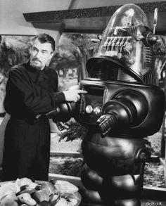 "Walter Pidgeon en ""Planeta Prohíbido"" (Forbidden Planet), 1956"
