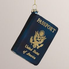 One of my favorite discoveries at WorldMarket.com: Glass United States Passport Ornament