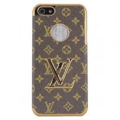 Luxury Designer Case Cover Lv Brown Monogram for Iphone 5 + Free Cell Phone Pendant $6.40 #topseller