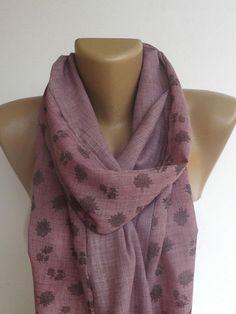fashion accessory  long scarves  floral print by seno, $19.00
