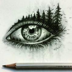 Astonishing eye pencil drawing amazing pencil drawings, amazing sketches, p Amazing Drawings, Beautiful Drawings, Cool Drawings, Amazing Art, Pretty Drawings, Drawings Of Eyes, Creative Pencil Drawings, Pencil Drawings Of Nature, Detailed Drawings