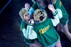 #RightLove 2012 Collection  Dancers   Green Varsity Dancers Jacket