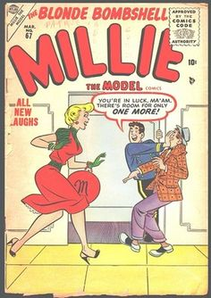 Millie the Model Old Comics, Vintage Comics, Comic Book Characters, Comic Books, Vintage Drawing, Vintage Art, Comic Book Paper, Millie The Model, Dan Decarlo