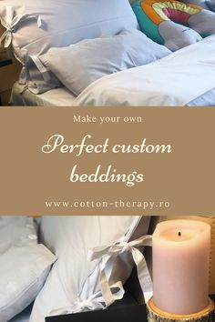 Make your own perfect custom bedding set in our zero waste small tailoring workshop. For more information, visit www.cotton-therapy.ro. #cottonlovers #shoplocal #zerowaste Custom Bedding, Make Your Own, How To Make, Cotton Sheets, Zero Waste, Summer Collection, Pillar Candles, Bed Sheets, Workshop