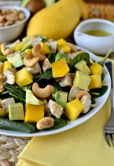 Cashew Chicken Mango Salad with Honey-Lime Vinaigrette