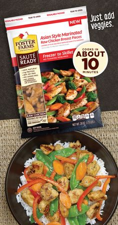 What's well-balanced, protein-rich and cooks in about 10 minutes? Sauté Ready! These pre-cut, marinated chicken breasts can be enjoyed as an entrée or added to your favorite recipe.    Grab a coupon & find it in your local grocery store freezer today! www.fosterfarms.com/sauteready