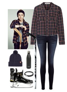 """Playing hockey with Sehun"" by sy223 ❤ liked on Polyvore featuring Frame Denim, Elizabeth and James, Equipment, Bickley + MItchell, Pandora, S'well, kpop, EXO and Sehun"