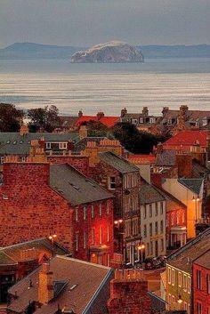Dusk Dunbar Scotland